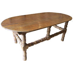 18th Century Spanish Colonial Mexican Sabino Wood Center Table