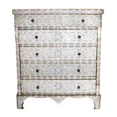 Syrian Mother of Pearl Inlay Chest of Drawers Dresser