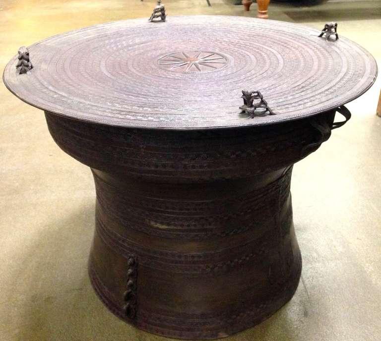 Pair Of Bronze Rain Drum Tables At 1stdibs