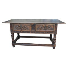 Outstanding 17th Century Spanish Walnut Console Table