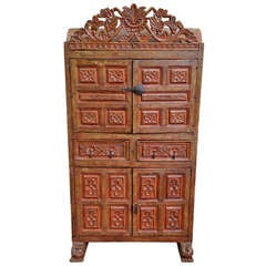 19th Century Spanish Colonial Armoire Armario Chest