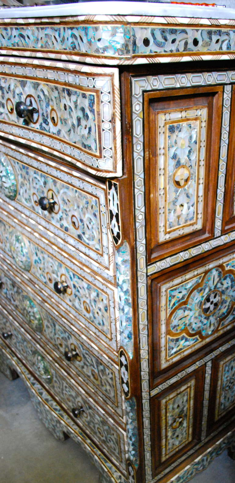 Syrian Mother Of Pearl And Abalone Dresser At 1stdibs