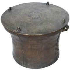 19th Century Southeast Asian Bronze, Rain Drum Makes Excellent Table