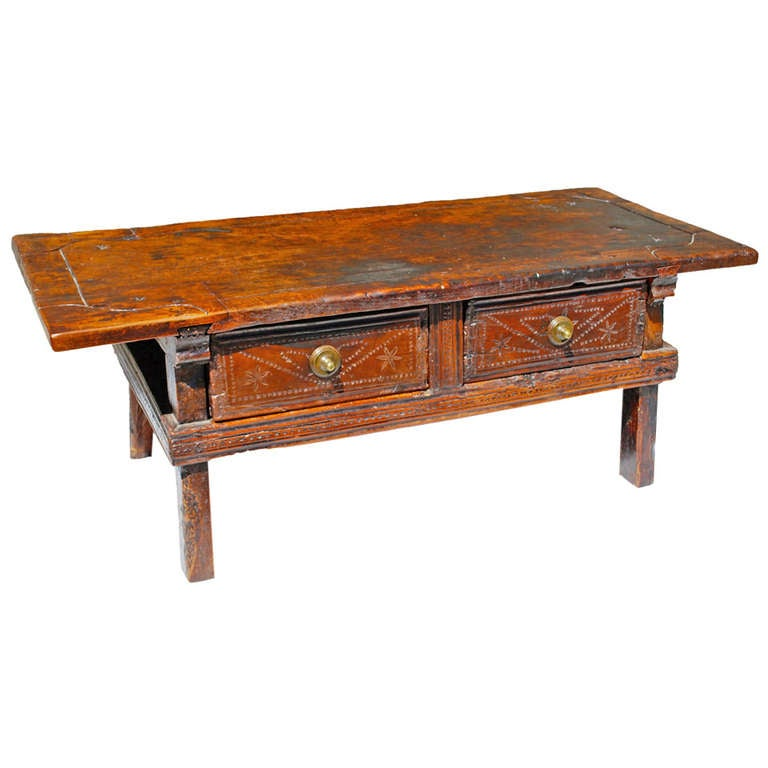 17th century spanish coffee table at 1stdibs for Table in spanish