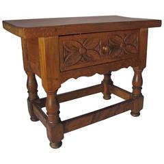 Spanish Side Table in Walnut