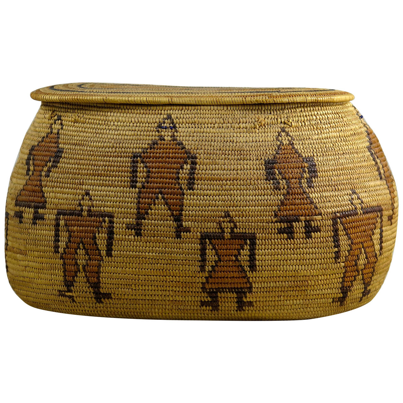 Rare 29 Palms Chemehuevi Native American Basket, Early 20th Century 1