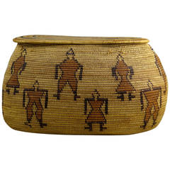 Rare 29 Palms Chemehuevi Native American Basket, Early 20th Century