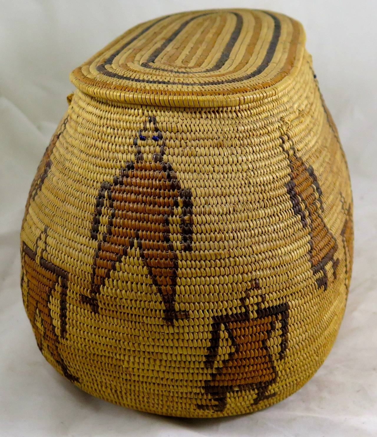 Rare 29 Palms Chemehuevi Native American Basket, Early 20th Century 2