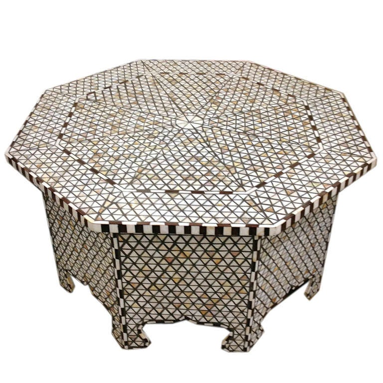 Mother Of Pearl Coffee Table Likely Syrian For Sale