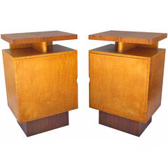 Stunning and Rare, Art Deco Pair of Andrew Szoeke Cabinets