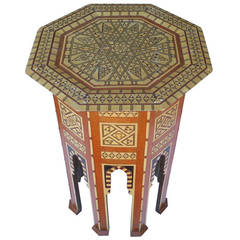 Beautiful 19th Century Mother-of-Pearl Moroccan Side Table