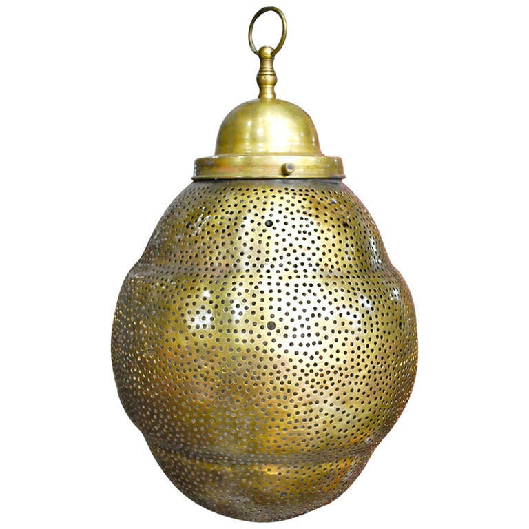 Lovely Moroccan Brass Fixture Pendant For Sale At 1stdibs