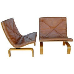 Pair of Poul Kjaerholm PK-27 Easy Chairs