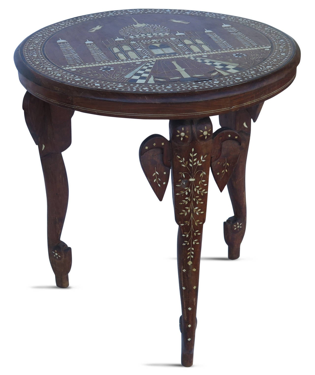 Exceptional 19th Century Anglo Indian Elephant Leg Side Table 2