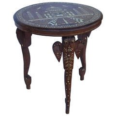 19th Century Anglo Indian Elephant Leg Side Table
