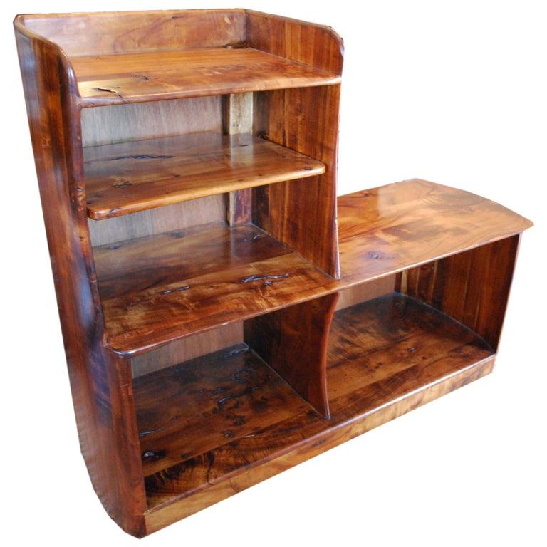 Koa Wood Kitchen Cabinets: Mid Century Koa Wood Shelving Unit At 1stdibs