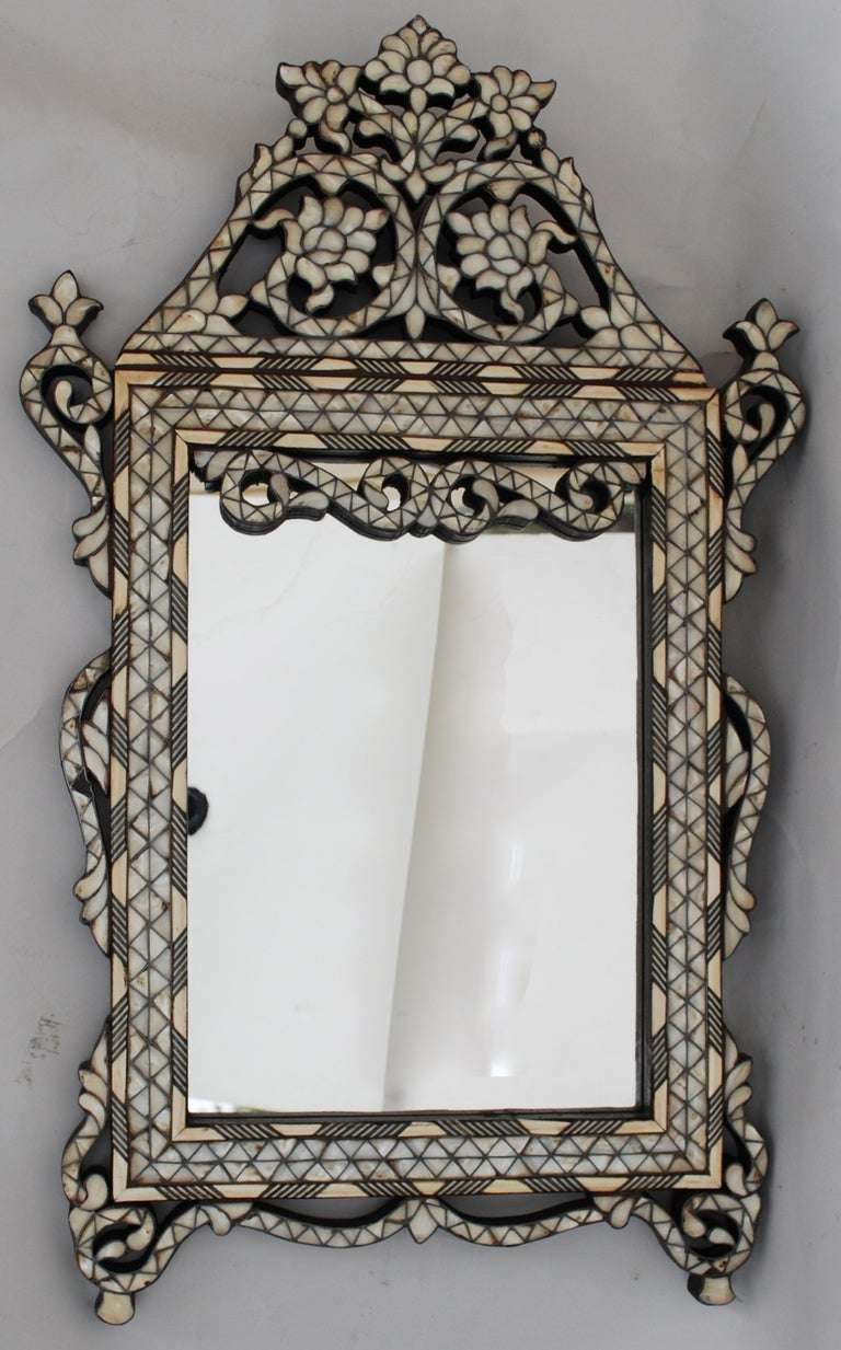 Syrian Mother Of Pearl Mother Of Pearl Mirror At 1stdibs