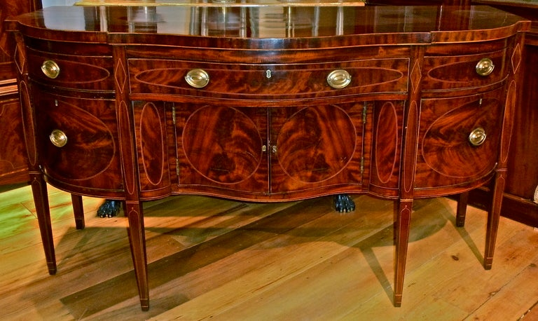 New york federal period mahogany sideboard image 4 for Sideboard york