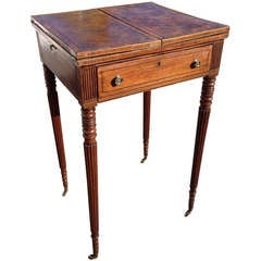 George III Mahogany Metamorphic Side Table with Fitted Writing