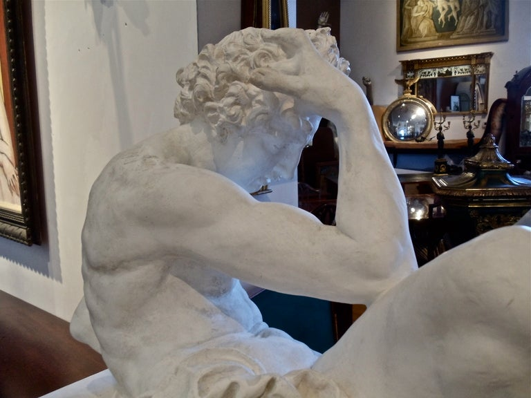 Pair Of Large Scale Plaster Sculptures After Michelangelo