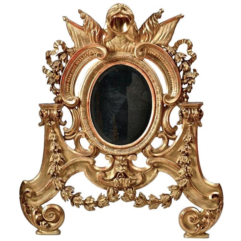 Italian baroque giltwood mirror roman at 1stdibs for Italian baroque mirror