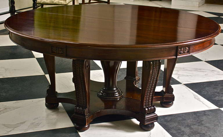 Mahogany Expanding Round William IV Dining Table At 1stdibs
