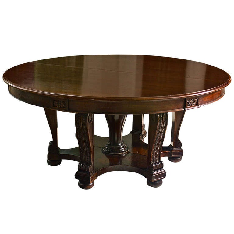 mahogany expanding round william iv dining table at 1stdibs. Black Bedroom Furniture Sets. Home Design Ideas