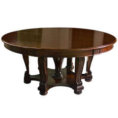 Mahogany Expanding Round William IV Dining Table