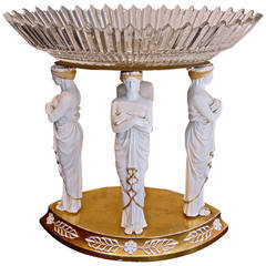 Early 19th Century Sevres Bisque Porcelain Centerpiece