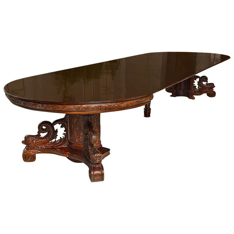 Incredible Period Mahogany Expandable Round Dining Table  : 1103964l from www.1stdibs.com size 768 x 768 jpeg 33kB