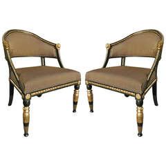 Pair of Period Gustavian Neoclassical Chairs