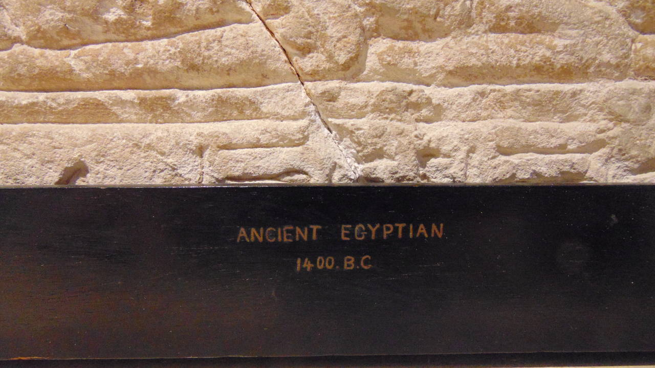 Ancient egyptian carved stone relief th dynasty
