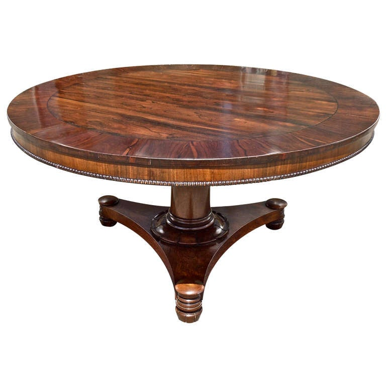 19th Century Anglo Colonial Regency Period Round Center Table For Sale
