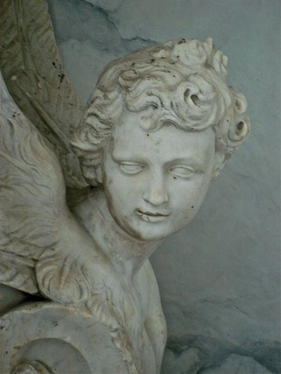 German Pair of Massive Period Baroque Marble Corbels