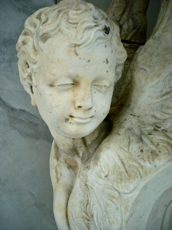 Pair of Massive Period Baroque Marble Corbels 1