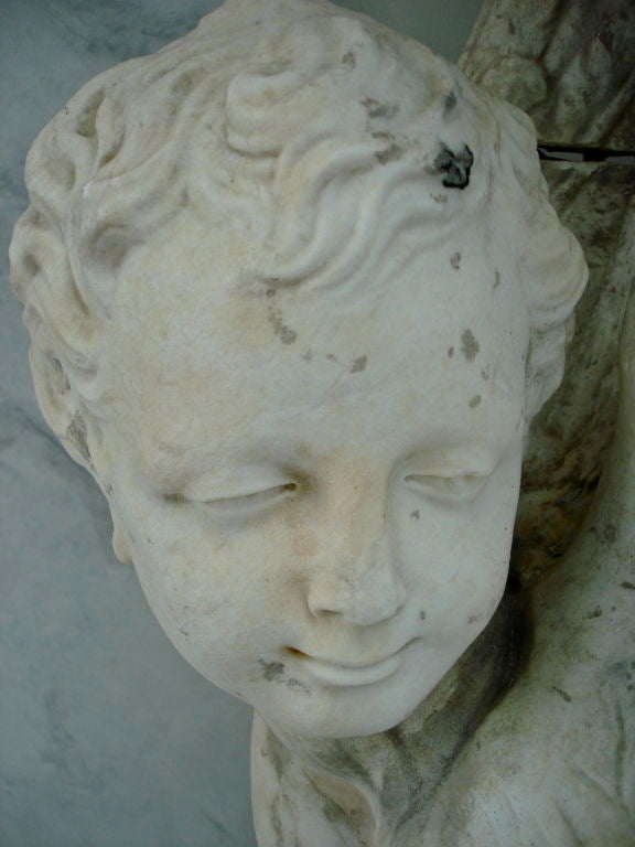 Pair of Massive Period Baroque Marble Corbels 2