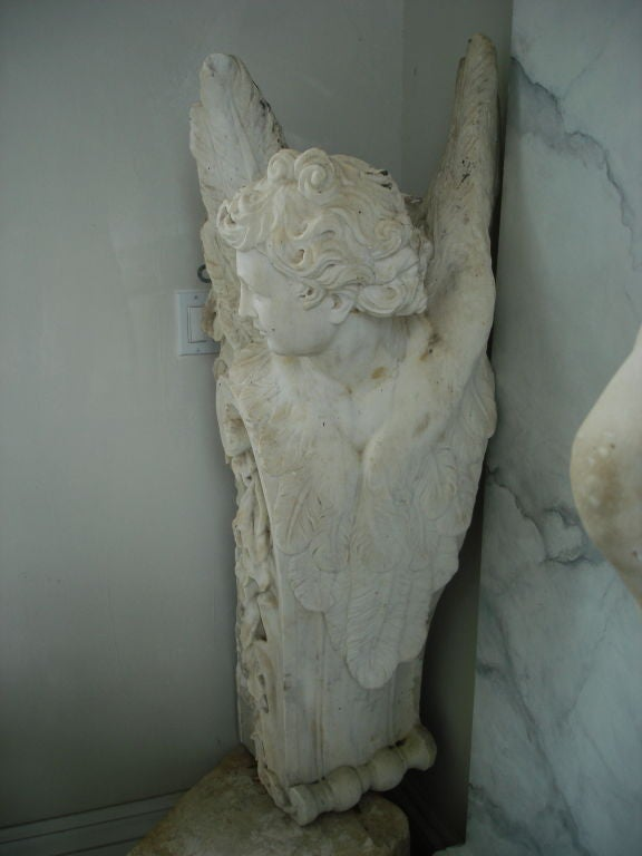 Pair of Massive Period Baroque Marble Corbels 4