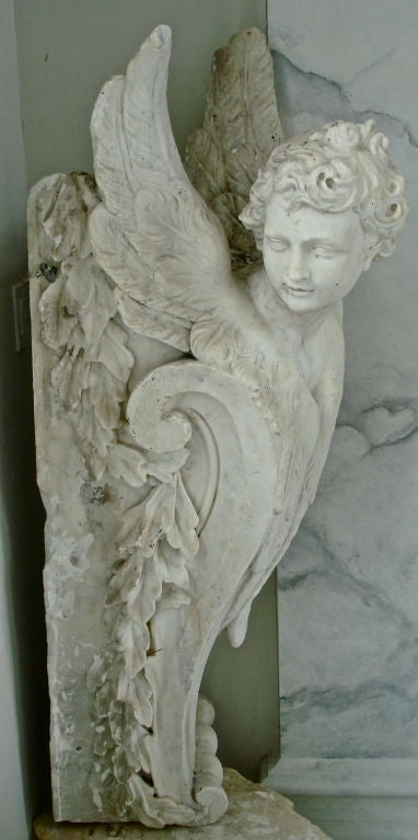 Pair of Massive Period Baroque Marble Corbels 5