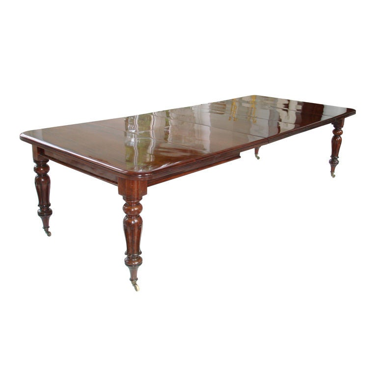 Cuban Mahogany Regency Period Dining Table At 1stdibs
