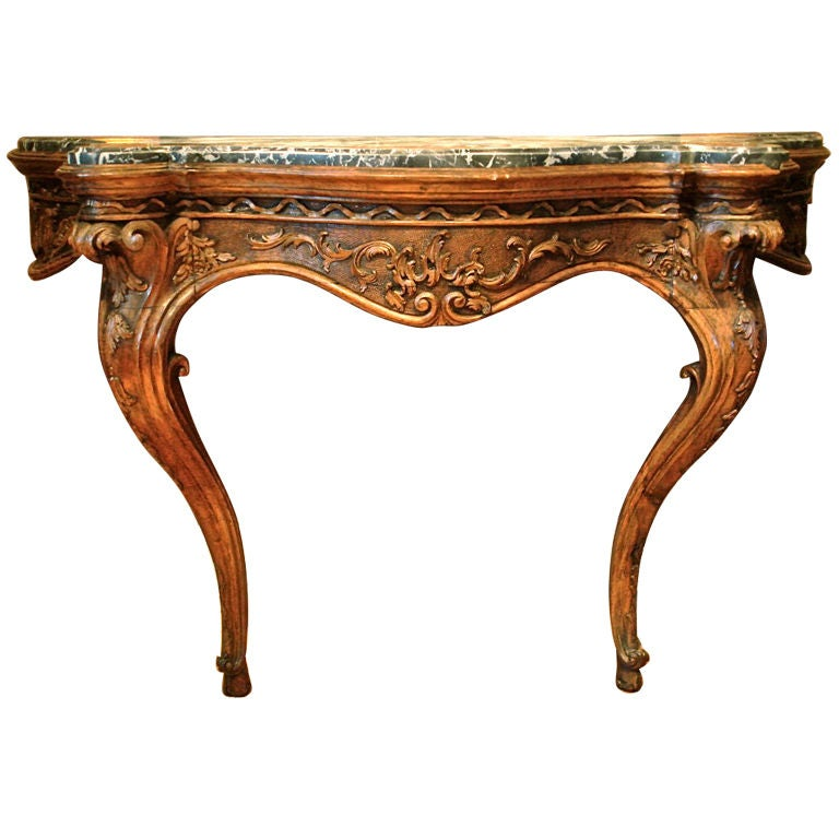 Period walnut louis xv console table for sale at 1stdibs - Table de chevet louis xv ...