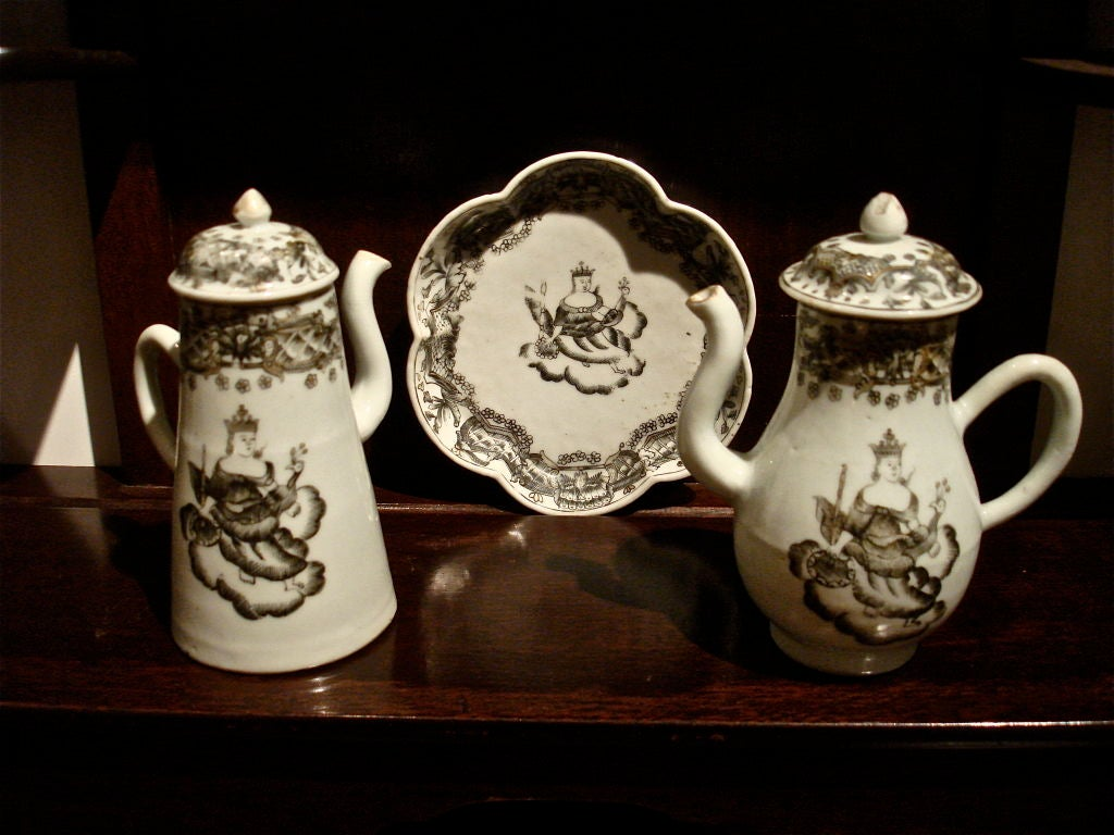 Extensive 18th Century Child S Tea Set Chinese Export At