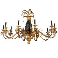 CHARMING TOLE PINEAPPLE CHANDELIER