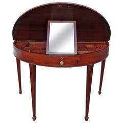 Very Rare 18th Century George III Hepplewhite Mahogany Dressing Table
