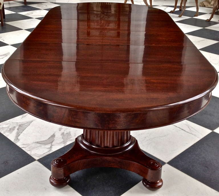 Period Boston Late Federal Mahogany Expandable Round