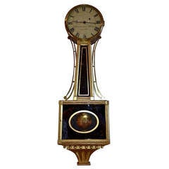 Period American Federal Banjo Clock by Samuel Whiting, Concord, MA