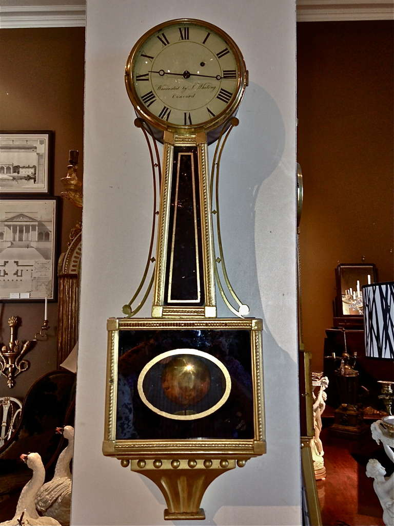Period Federal Banjo Clock