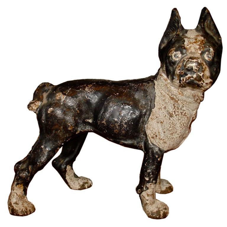 Cast iron boston terrier doorstop at 1stdibs - Cast iron doorstop ...