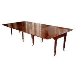 Rare Period English Sheraton Dining Table