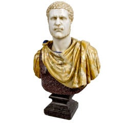 Rare Grand Tour Bust of the Roman Emperor Hadrian