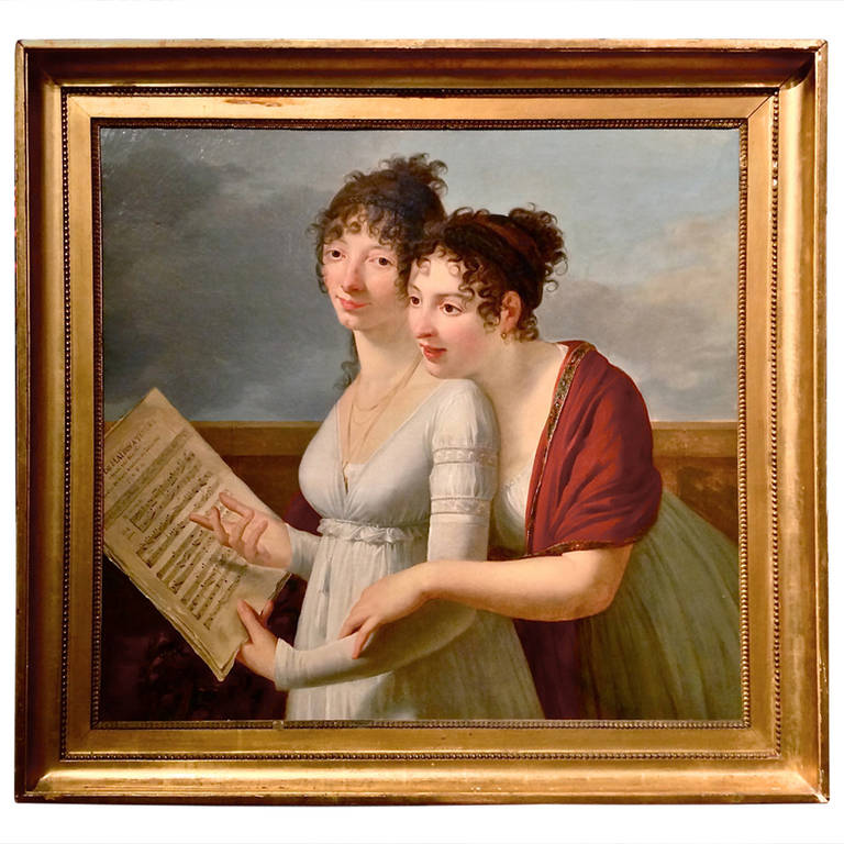 Empire Portrait of Julie and Desire Clary by Robert Lefevre
